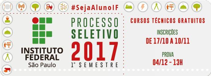 Processo Seletivo primeiro semestre 2017