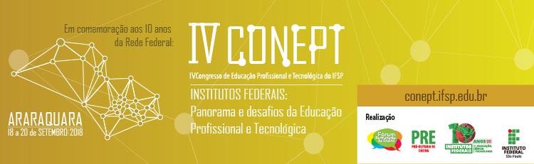 IV Conept recebe trabalhos de pesquisadores até 01 de julho