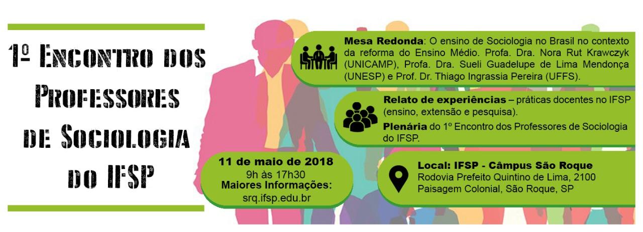 1º Encontro dos Professores de Sociologia do IFSP