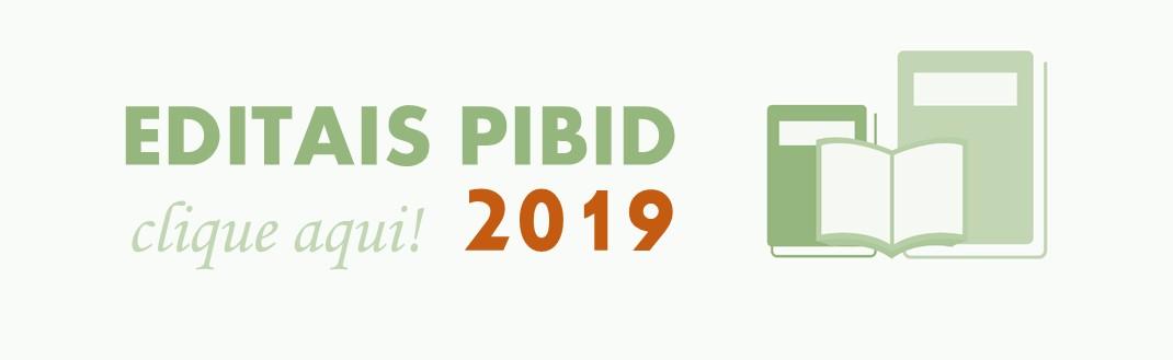 Editais PIBID 2019